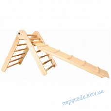 Детский спортивный уголок Треугольник пиклера от 2 мес. 65 см с горкой (лак)