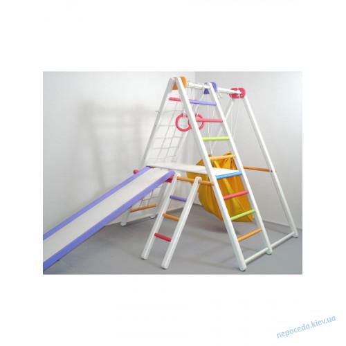 Детский спортивный уголок Кроша белый малышам с 1 года