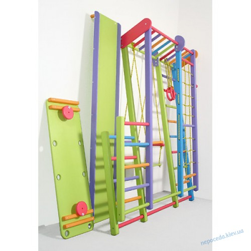 Игровой раскладной спортивный уголок Слоник (цветной)