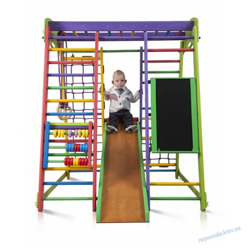 Детский спортивный комплекс для дома «Акварелька» с мольбертом