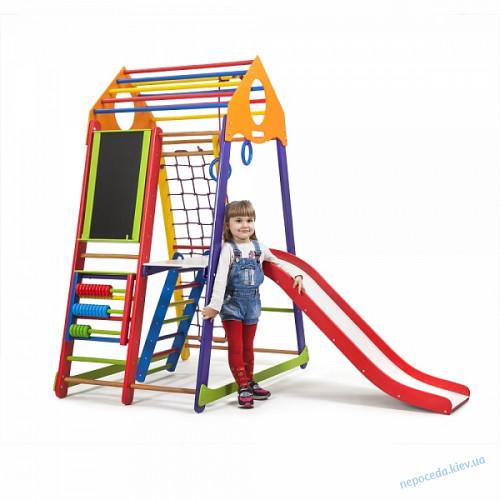 Дитячий спортивний комплекс BambinoWood Color Plus 3