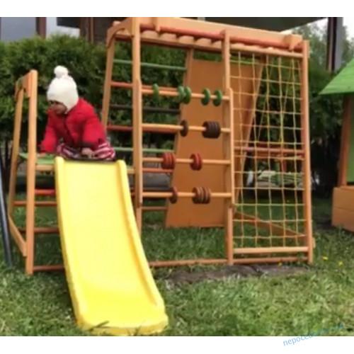 Детский спортивно - игровой комплекс с горкой и скалолазкой Малыш УЛИЦА