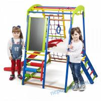 Детский развивающий комплекс +горка для дома SportWood Plus 3