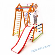 Високий Дитячий спортивний комплекс BambinoWood Plus 1-1 для будинку