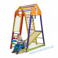 """Дитячий спортивний комплекс """"Бамбіно Wood кольоровий Plus"""""""