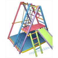 Игровой складной спортивный комплекс «Кроша» цветной +мат