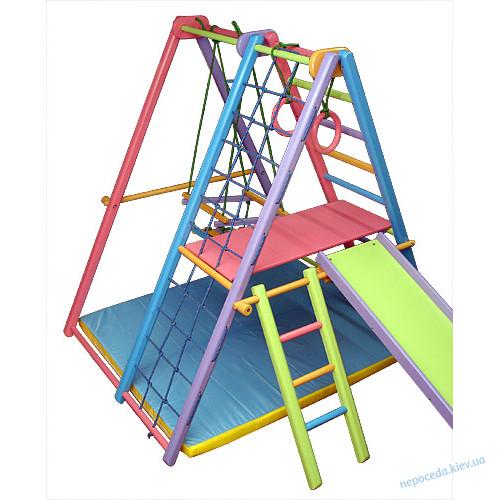 «Кроша» цветной +мат Игровой складной спортивный комплекс