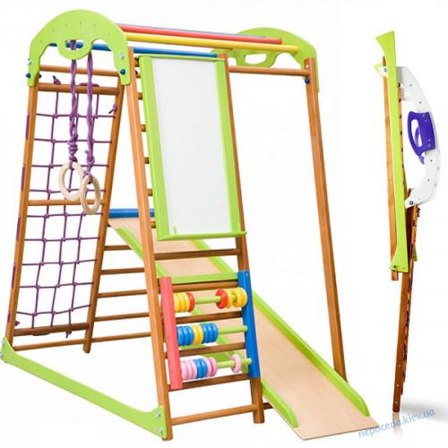 Детский спортивный комплекс в квартиру Беби Wood Plus