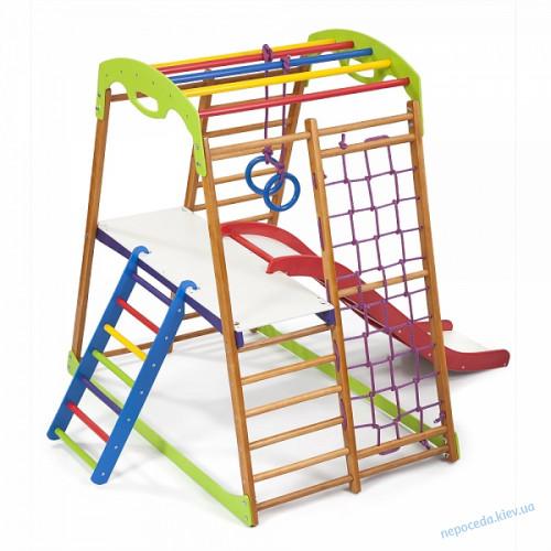 Детский спортивный комплекс для дома BabyWood Plus 2 +столик+лесенка