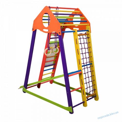 """Детский спортивный комплекс """" Бамбино Wood цветной Plus """""""