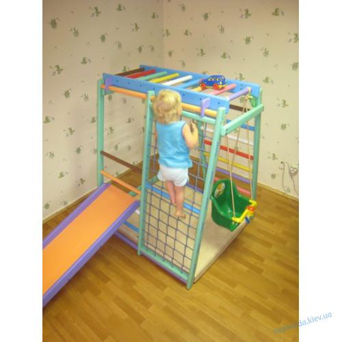 Детский спорткомплекс Малыш плюс c горкой для дома