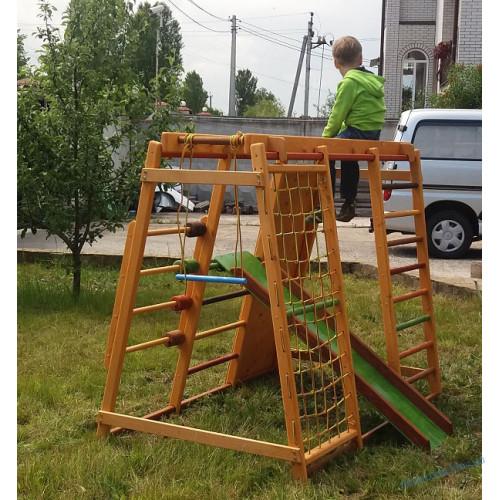 """Игровой комплекс """"Малыш+"""" скалодром (дом-улица)"""