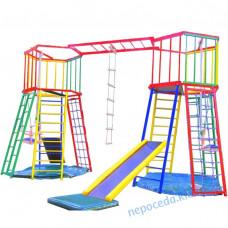 Детский спортивный Комплекс Лабиринт-маяк для дома дачи и улицы: 2 горки