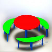 Столик и лавками на детскую площадку