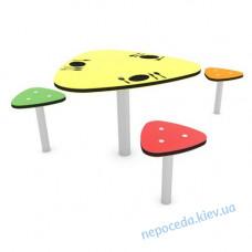 Столик со стульчиками на улицу для площадки