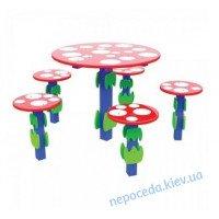 """Детский столик со стульчиками """"Грибок"""" на площадку"""