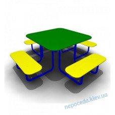 """Столик """"Одуванчик"""" с лавочками парковый. Столик для детской площадки"""