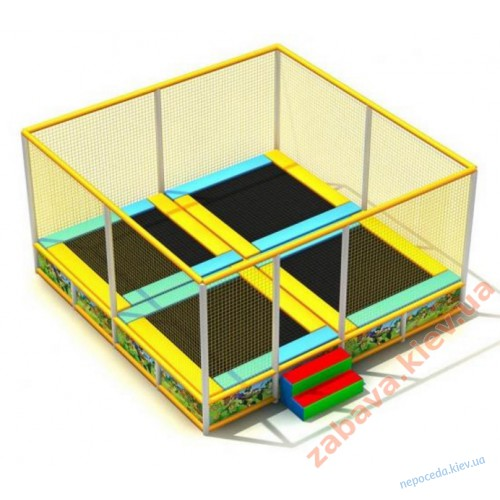 Батутный комплекс из 4 батутов квадратный