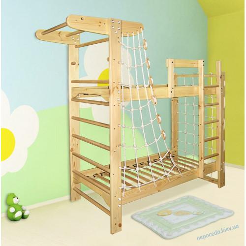 """Детская двухъярусная спортивная кровать """"Пират"""""""
