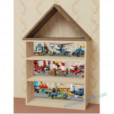 Стеллаж домик (полка для игрушек и книг). Детская мебель