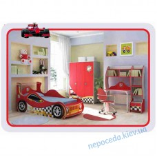 Детская комната с кроватью машинкой Driver. Мебель с Кроватью в виде авто