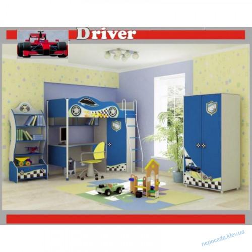 Детская комната с кроватью машинкой Driver