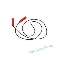 Скакалка резиновая с пластиковыми ручками