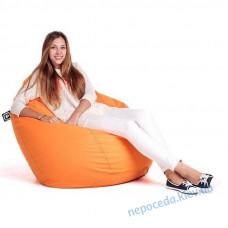 Кресло мешок Груша оранжевое