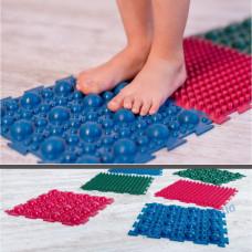 Детский массажный резиновый пазл для стоп (6шт)
