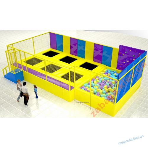 Батутный комплекс в игровую комнату для помещений