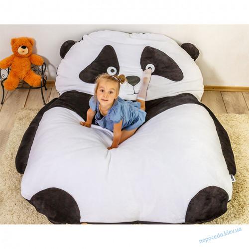 Детская мягкая кровать Пандочка (бескаркасная мебель) S