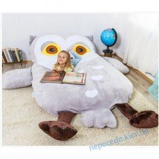 Детская кровать матрас мягкая игрушка Сова (S)