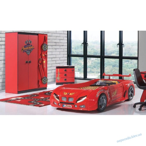 Детская Кровать машина F1 (красная)