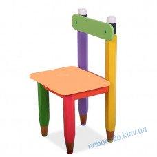 """Стілець дитячий """"Олівці"""" колір сидіння помаранчевий"""