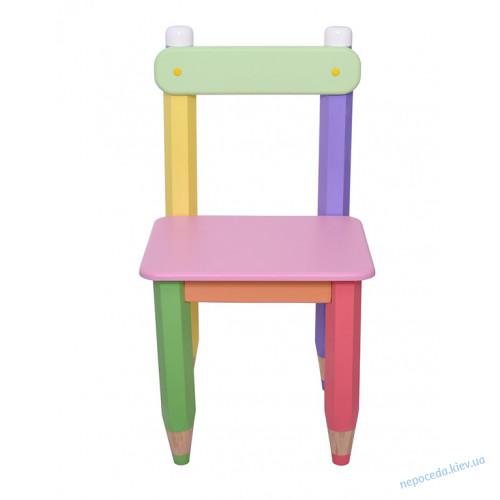 """Стул детский """"Карандаши"""" цвет сидения оранжевый"""