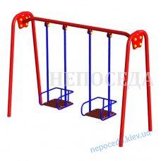Детские качели для улицы двойные большие (до 120 кг на сидушку)