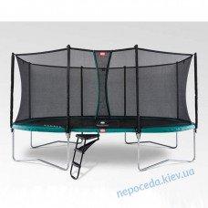 Овальный Батут BERG Grand Favorit 520 Green с сеткой Comfort большой