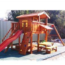 Детский игровой комплекс с домиком на сваях Авалон-26