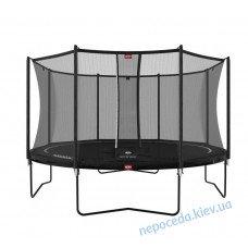 Батут BERG Favorit Regular 380 Black + сетка Safety Net Comfort