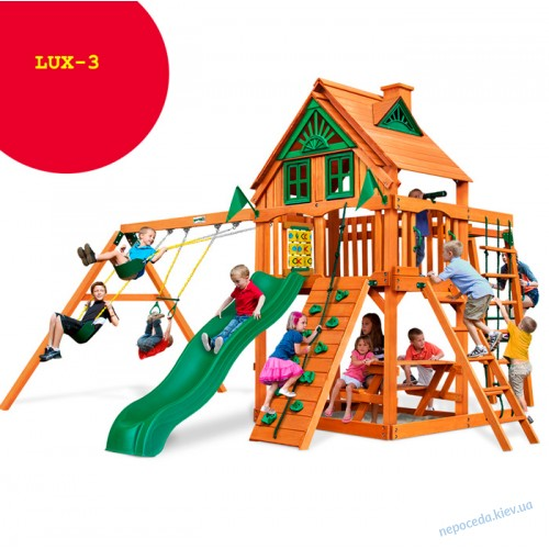 """Площадка игровая с домиком и дополнением рукоходом """"Люкс-3"""""""