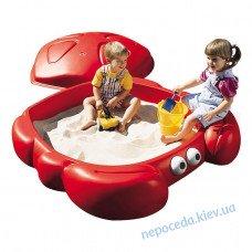 Детская Песочница Краб с крышкой большая