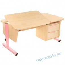 Письмовий стіл Школяр з тумбою на 2 ящика регульований по висоті