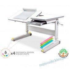 Парта детская деревянная регулируемая Mealux RichWood Multicolor 120-76см