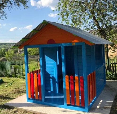 купить детский домик деревянный