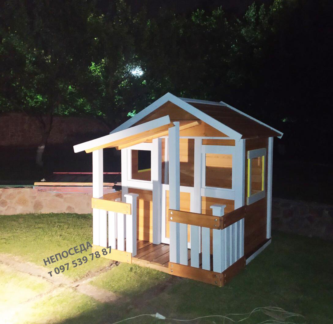 Игровой детский домик из дерева на улицу