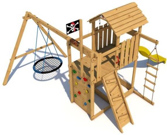 детские площадки из дерева производитель