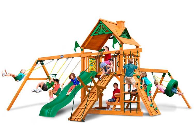Площадка детская деревянная на дачу или загородный дом