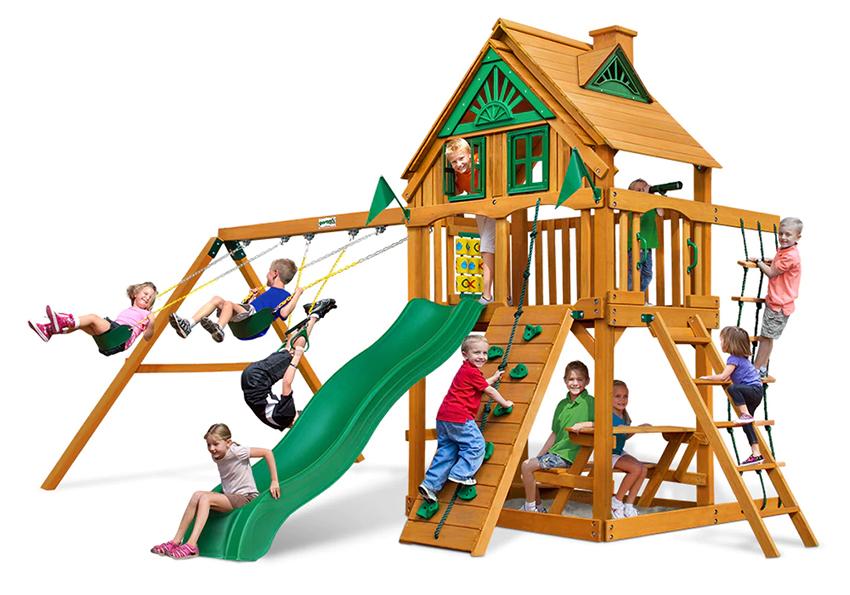 Дитячі майданчики з дерева і дитячі ігрові майданчики у садибу, ресторан, біля заміського дому замовити в магазині Непоседа