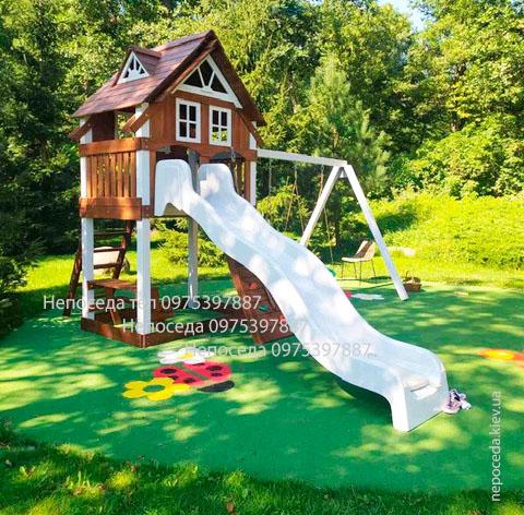 детская деревянная площадка купить. игровая площадка для детей. Вилла прима детский комплекс от Непоседа